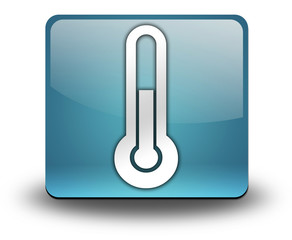 "Light Blue 3D Effect Icon ""Thermometer / Temperature"""