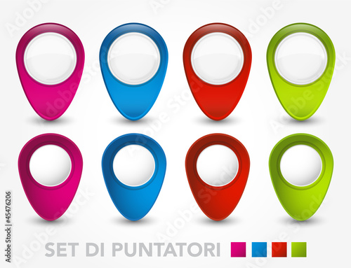 Set Puntatori Colorati