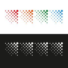 Dots arrows design