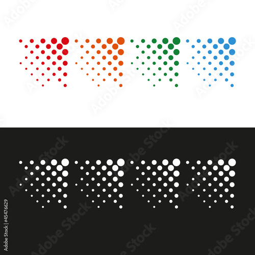 Dots arrows design
