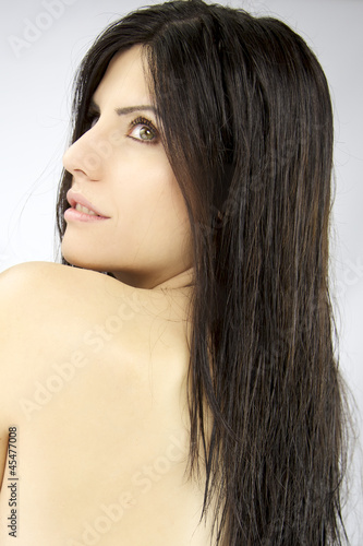 Closeup of sensual beautiful woman