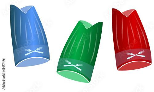 toques de cuisinier en couleurs de graphlight fichier vectoriel libre de droits 45477496 sur. Black Bedroom Furniture Sets. Home Design Ideas