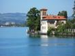 Old mansion in Oberhofen at the lake Thun. Switzerland