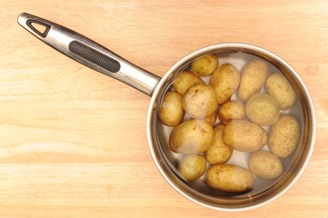 Potatoes in a pan