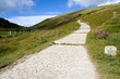 South-West coastal path from Lulworth Cove to Durdle Door Dorset