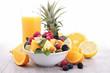fruit salad and orange juice