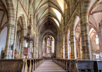 Gothic nave of the church of Wissembourg