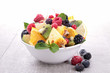 fruit salad and berries