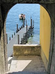 Romantic view to the lake Como. Italy