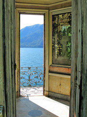Romantic view to the lake Como, Italy