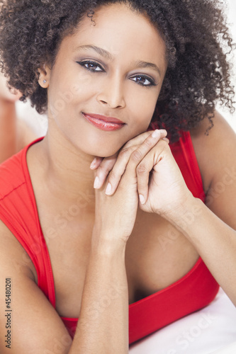Beautiful Happy Mixed Race African American Girl