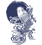 Fototapety 鯉.月.波