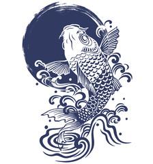 鯉.月.波