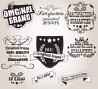Set of calligraphic retro vintage labels, vector