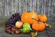 Autumnal vegetables and fruits