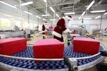 In the Christmas gifts factory