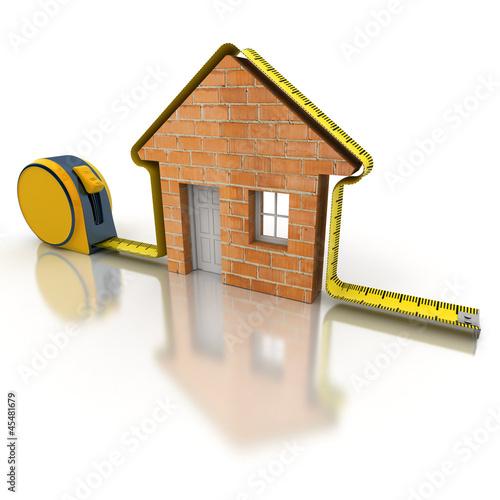 House measuring brick