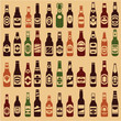 Beer bottles vector collection. 44 different forms