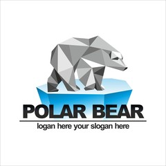 Polar bear - abstrakt logo