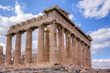 Parthenon temple southeast side view, Acropolis, Athens, Greece