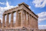 Parthenon temple southeast side view, Acropolis, Athens, Greece