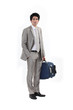 Businessman stood with luggage