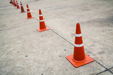 Line of traffic cones