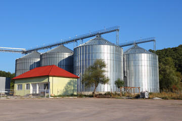 Grain silos in Bulgaria