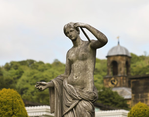 An Aphrodite Sculpture at Chatsworth House, England