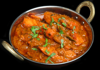 Indian Chicken Tikka Jalfrezi Curry