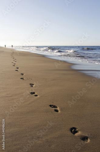 Die Spur am Strand