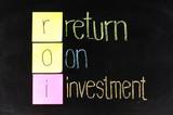 ROI - return on investment  poster