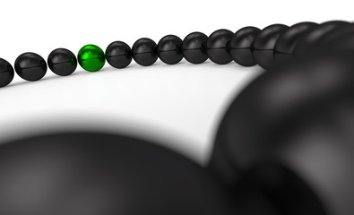 green and black - 3D ball focus 9