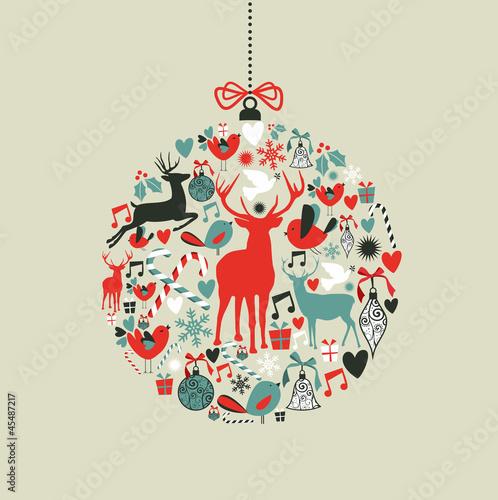 Ikony Bożego Narodzenia w kształcie bauble