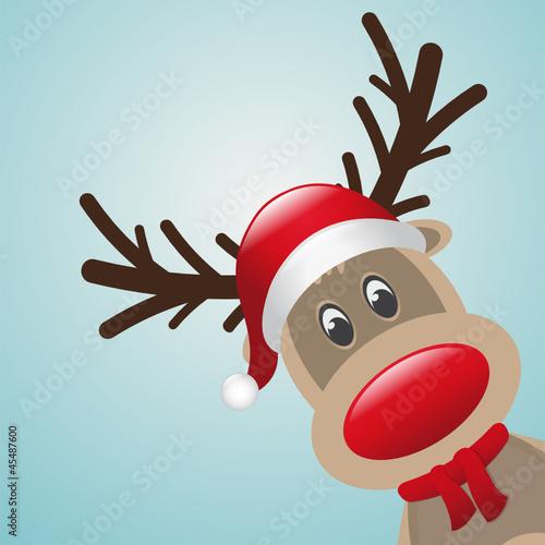 reindeer red nose scarf