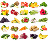 Collection of fresh fruits and vegetables