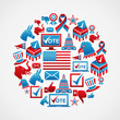 US elections icons circle