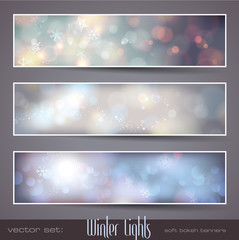 winter bokeh banners (flakes are separately grouped)