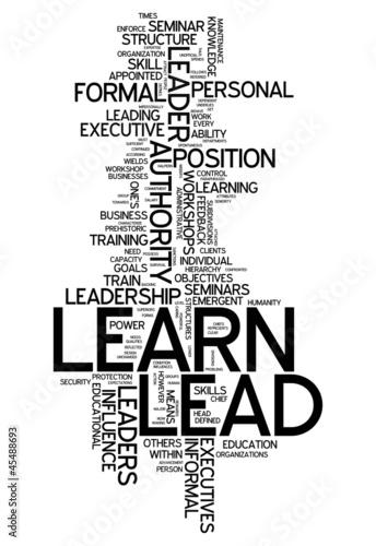 """Word Cloud """"Learn / Lead"""""""