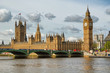 The Big Ben and Westminster Bridge in London on a beautiful day