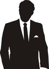 silhouette homme d'affaire