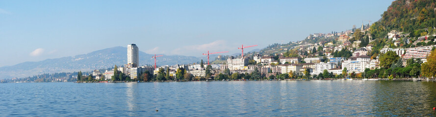 Panorama of Montreux, Switzerland