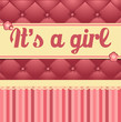 It's a girl postcard