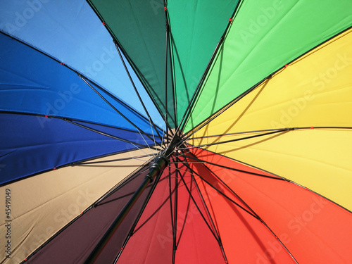 Spectrum colored umbrella