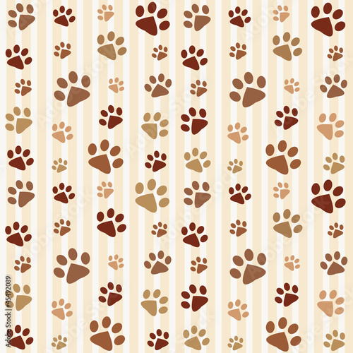 brown footprints seamless pattern