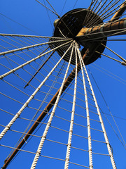 Mast of old Spanish galleon