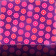 Shiny Card with Pink Flower Pattern