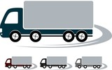 set of signs with truck image