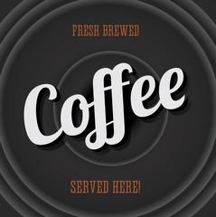 Vintage poster - fresh brewed coffee