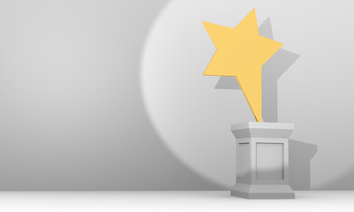 Star award  on pedestal